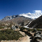 View of Everest Range, Sagarmatha National Park, Nepal
