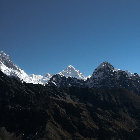 View of Nuptse (7.855m), Lhotse (8.516m), Mt. Makalu (8.463m), Sagarmatha National Park, Nepal