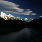 Late Sunshine in Himalayas, Sagarmatha National Park, Nepal