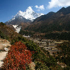 Living under Ama Dablam (6.856m), Sagarmatha National Park, Nepal
